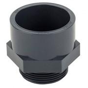 Муфта переходная клеевое соединение /наружная резьба ПВХ Aquaviva 63mm фото