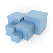 """Комплект подарочных коробок """"Голубой Wow Box"""" 5 в1, 210х210х210 мм, 3391 фото"""