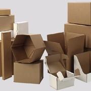 Ящики из гофрированного картона разных типов и форм фото