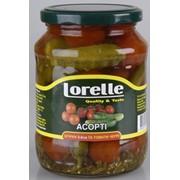 Ассорти (Огурцы 3-6 см и Томаты Черри) консервированные овощи фото