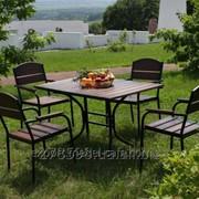 Комплект мебели Премиум KIT-Premium-BD черный металл, темное дерево фото