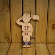 Сувенир деревянный Солдат фото