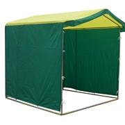 Палатка торговая (Зелено-желтая) фото