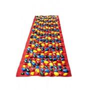 Коврик массажный с цветными камнями 150 х 40 см фото