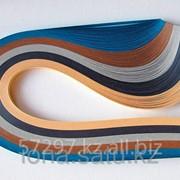 Бумага набор №30 130гр., 300мм., 150 полос, 5 цветов бирюз, св.-корич., серый, графит, св.-беж. фото