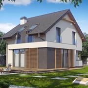 Двухэтажный мансардный каркасный дом Эффект фото