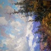 """Картина Маслом.""""Небо над Карпатами""""Копия Федяева. фото"""