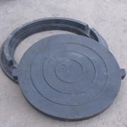 Люк канализационный А15 (до3 т) с замком, черный фото