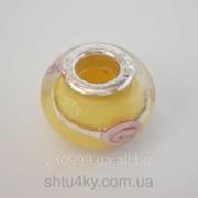 Бусина Pandora в желтом цвете P4260942 фото