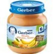 Пюре Gerber Яблоко, абрикос, банан, с 6 мес 130 гр фото