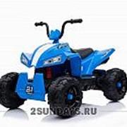 Детский квадроцикл на аккумуляторе T555TT синий фото