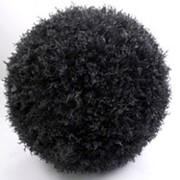 Искусственный декоративный шар черный, d 25 см фото