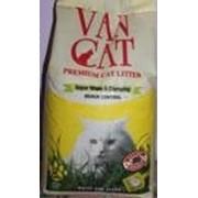 Комкующийся наполнитель Van Cat Natural 100% Натуральный, 15 кг. фото