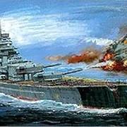 Модель корабля Линкор Бисмарк фото