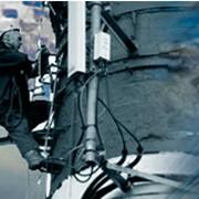 Ремонт кирпичных и металлических дымовых труб фото
