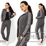 Спортивный костюм женский (3 цвета) - Серый АК/-2064 фото