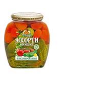 """Ассорти овощное (помидоры черри,огурцы) """"Медведь любимый"""" 720 мл фото"""
