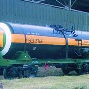 Цистерна железнодорожная для перевозки технической серной кислоты фото