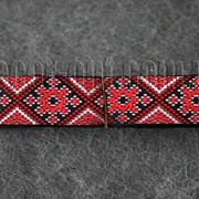 Тесьма украинская красная(чер.) 2,8см/10ярд 3103 фото