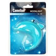 Camelion NL-181 ночник 0.5W 4LED 85x70x55 Дельфин 220V, пластик, выкл. фото