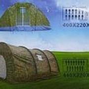 Палатка туристическая QS-107, 15 местная, 440х220х190см (CD-10) фото