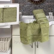 Подарочный набор полотенец из 100% бамбука g09 фото