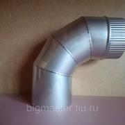 Отвод голый D140 мм угол 90 (нерж. 0,8 мм AISI 304) фото