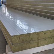 Сэндвич-панель стеновая, утеплитель - минеральная вата на базальтовой основе фото