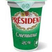 Сметана President 20% 350г фото