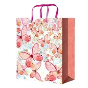 """Пакет подарочный ламинированный """"Красивые бабочки"""", 18х10х23см, (MILAND) фото"""