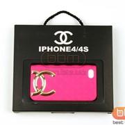 Накладка iPhone 4/4S CHANEL (силикон) малиновый 70142 фото