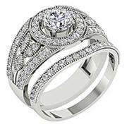Кольцо классическое с бриллиантами SI1/G 1.75 Ct фото