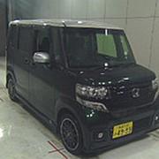Микровэн турбо HONDA N BOX кузов JF1 класса минивэн модификация Custom G гв 2016 пробег 25 т.км зеленый белый фото