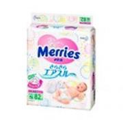 Подгузники Merries 4-8 кг 80 шт фото