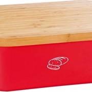 Хлебница с крышкой-доской для нарезания KESPER красная (18093) фото