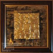 Картины и декоративные панно из золота фото
