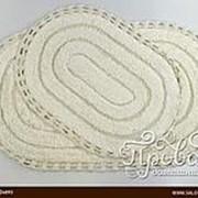 Набор ковриков для ванной Modalin YANA хлопок кремовый фото