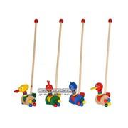 Деревянная игрушка Каталка, 4 вида, животные фото