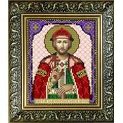 """Рисунок на ткани для вышивания бисером """"Св. Благоверный Князь Борис"""" VIA5048 фото"""