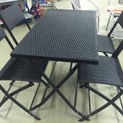 Комплект мебели из искусственного ротанга (складная) фото