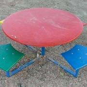 Столик с лавками 07-01-08-1 фото