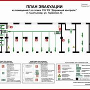Изготовление планов пожарной эвакуации фото