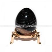 Сувенир Яйцо Черный Агат 220049 фото