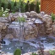 Изготовление декоративных водопадов фото