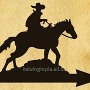 Флюгер на крышу Ковбой на коне фото