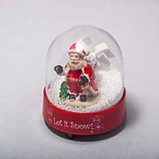Шар Дед Мороз в шаре 10см фото