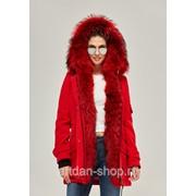 Стильная парка-пальто женская зимняя с мехом в 4х цветах П-52 фото