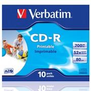 Диск CD-R Verbatim,700 MB,52x slim фото