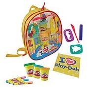 Darpeje Набор Play doh Рюкзачок для творчества, 4 маркера, 4 цветных карандаша, 4 цвета пасты для лепки. (CPDO012) фото