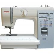 Машины бытовые швейные Швейная машина JANOME 419S (19 строчек, петля автомат, нитевдеватель, регулятор прижима лапки к ткани, регулировка длины и ширины стежка, жесткий чехол) фото